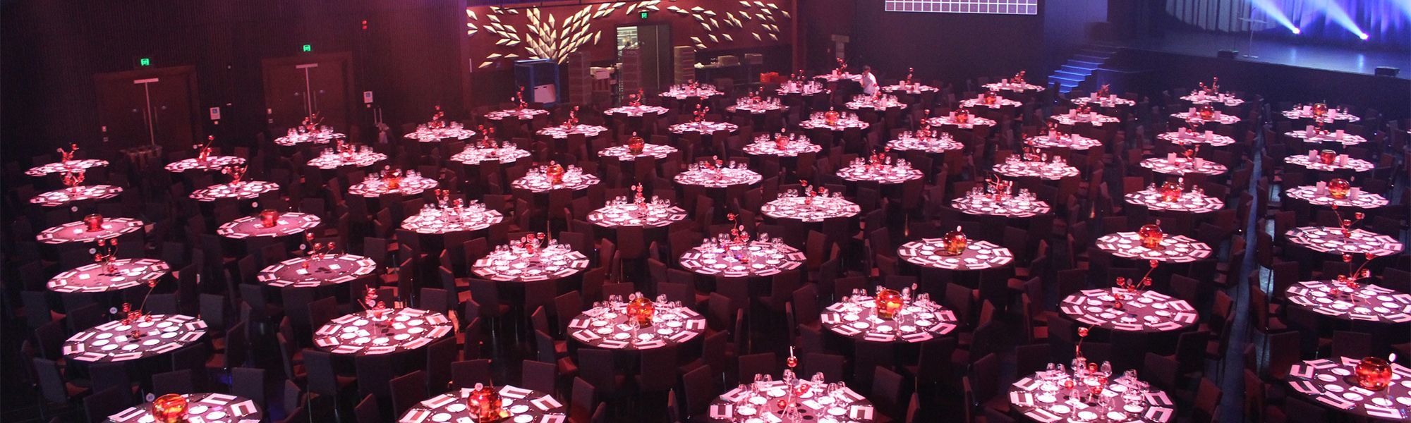 The Star Event Centre banquet set up