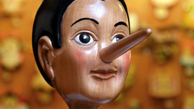 wooden puppet with long nose