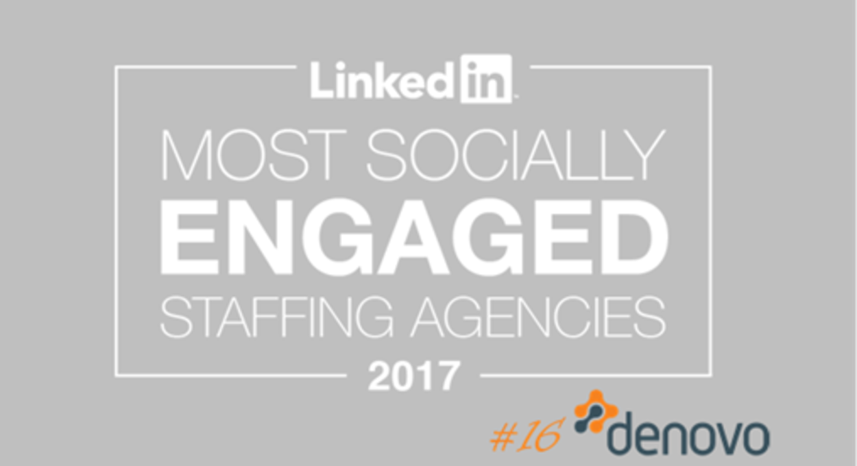 LinkedIn Most Socially Engaged - Denovo Consulting