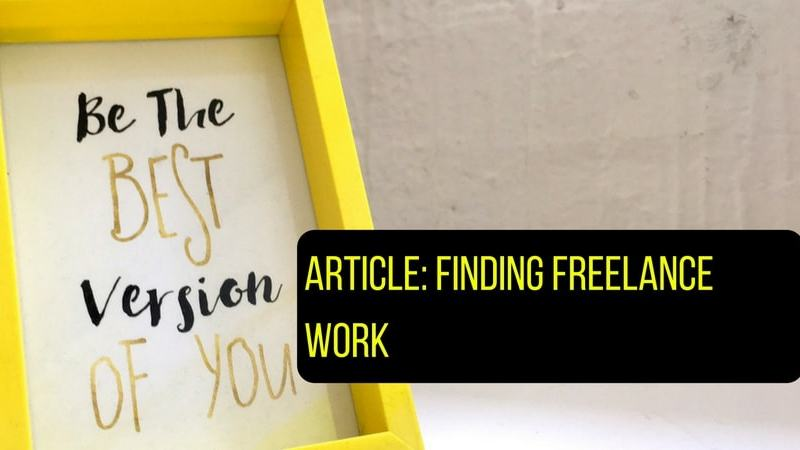 Tips for Finding Freelance Work