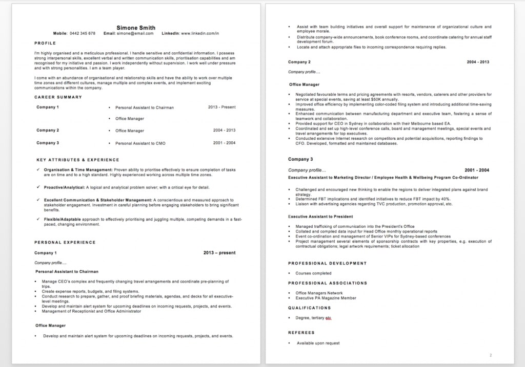 4 Simple Steps To Format A Great Resume