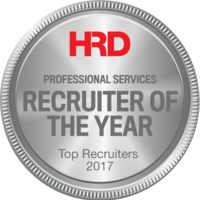 HRD Professional Services Recruiter of the year 2017 Silver