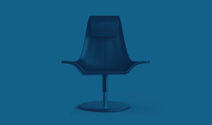Boardroom chair blue opacity