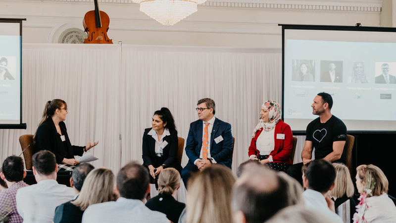 Photo of the panel at the event 'Realising the benefits of Diversity and Inclusion'