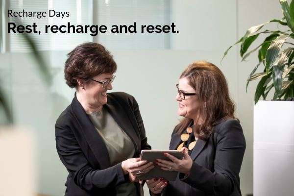 Entree Recruitment Careers Health and Wellbeing - Recharge Days